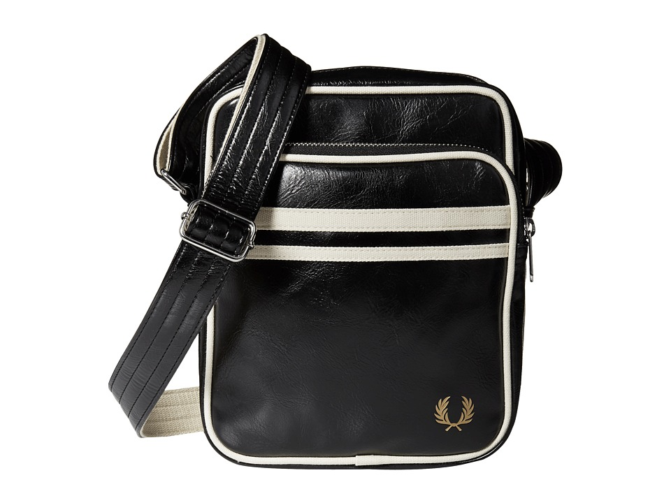 Fred Perry - Twin Tipped Crossbody Bag (Black/Ecru) Bags