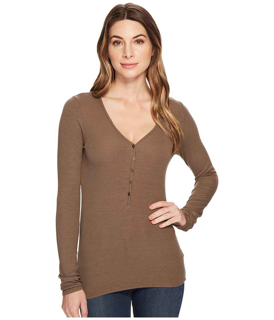 LAmade - Ingrid Henley Top (Bungee Cord) Womens Clothing