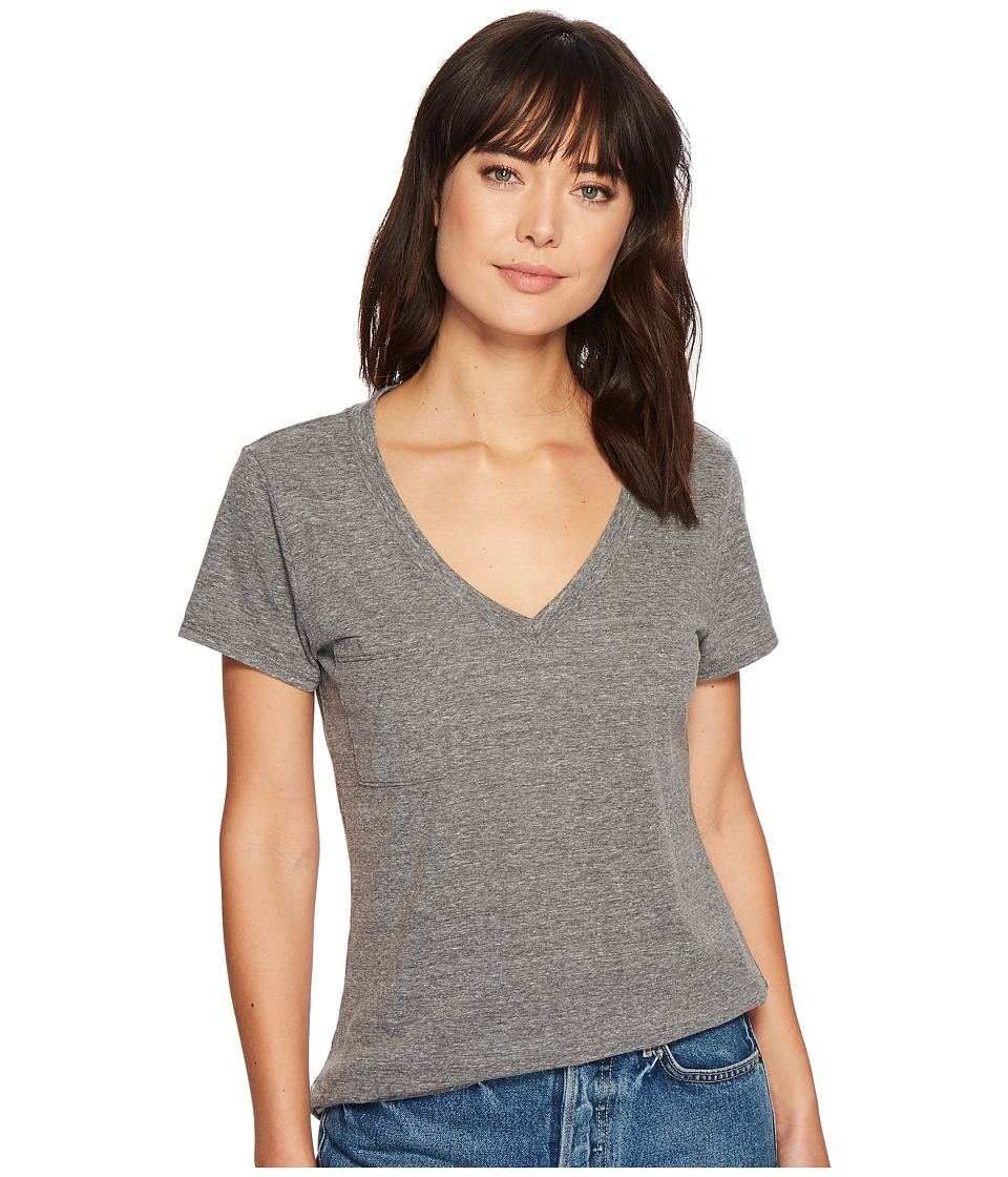 LAmade - V-Neck Tee (Heather Grey) Womens T Shirt