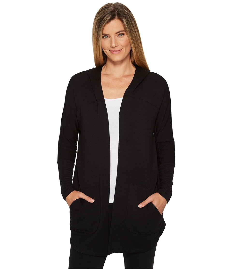 Beyond Yoga Love and Fleece Hooded Cardigan (Black) Women...