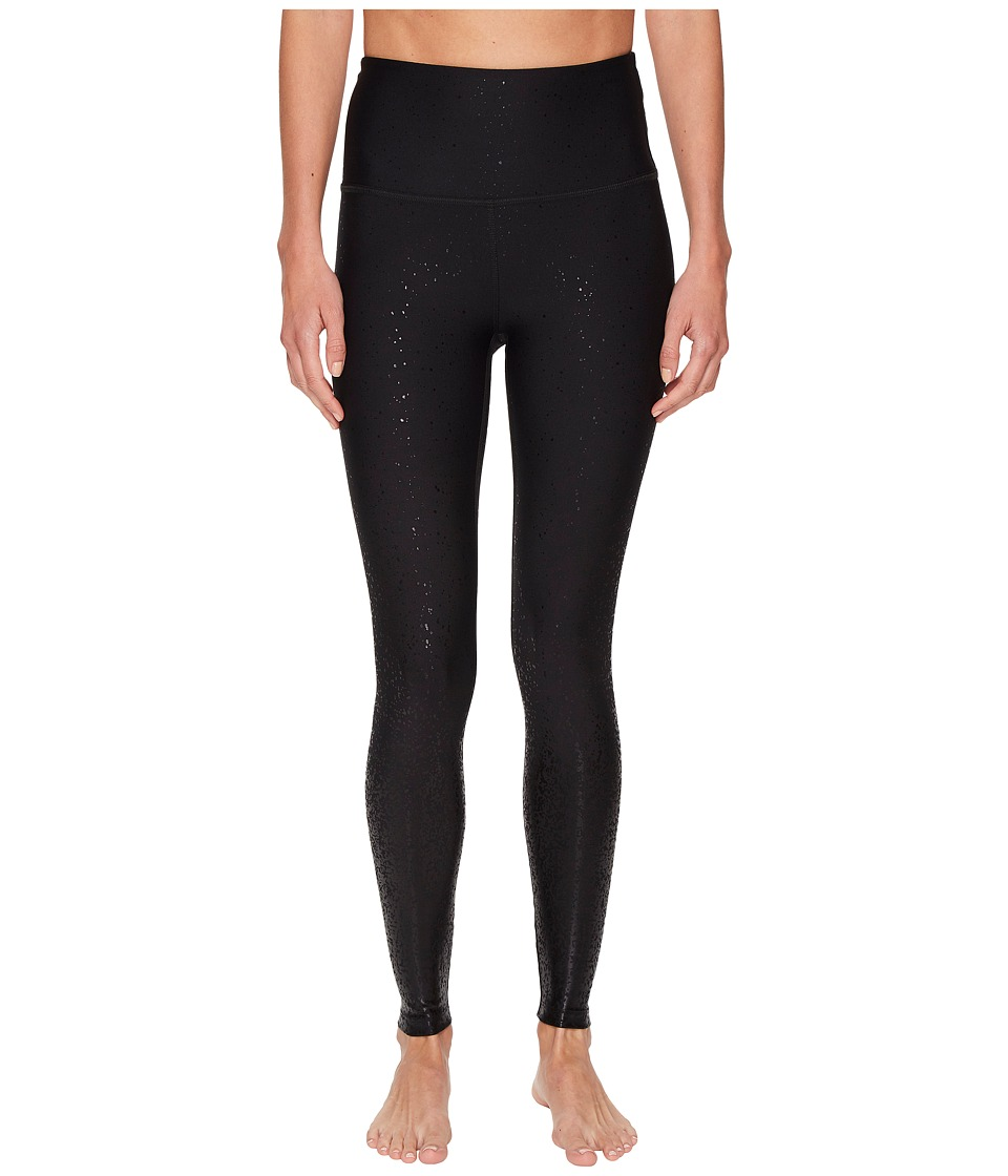 Image of Beyond Yoga - Alloy Ombre High-Waisted Midi Leggings (Black Foil Speckle) Women's Casual Pants