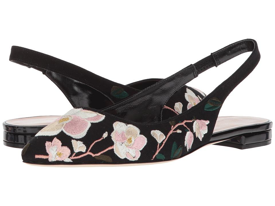 Kate Spade New York Barnie (Black Linen) Women's Shoes
