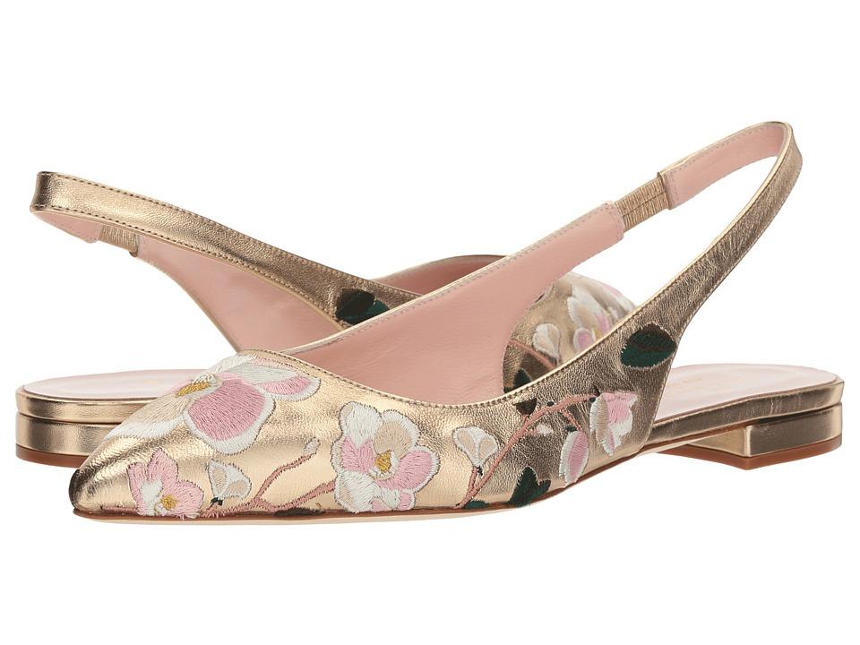 Kate Spade New York Barnie (Gold Metallic Nappa) Women's Shoes