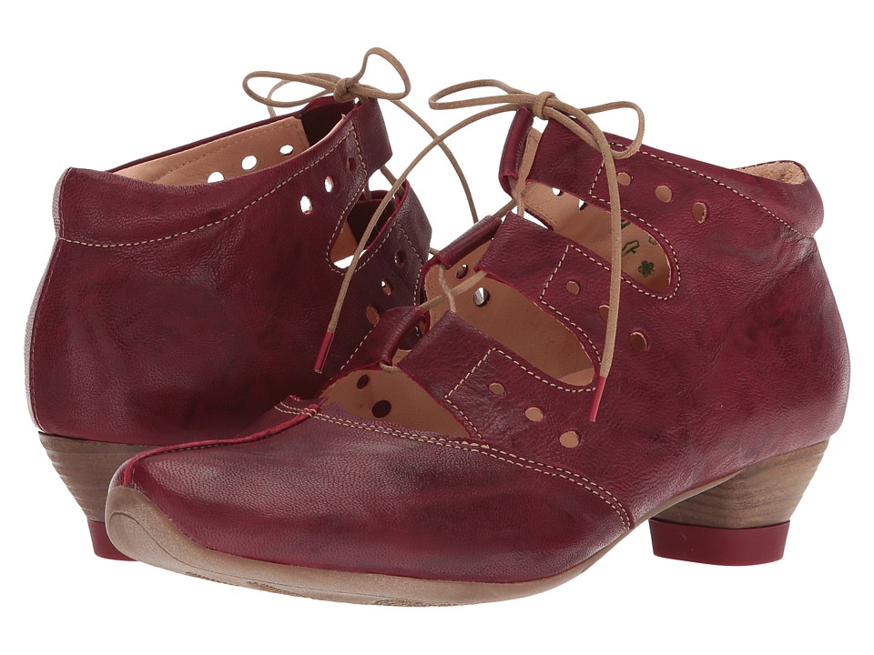 Think! - 82256 (Red/Kombi) Womens Lace up casual Shoes