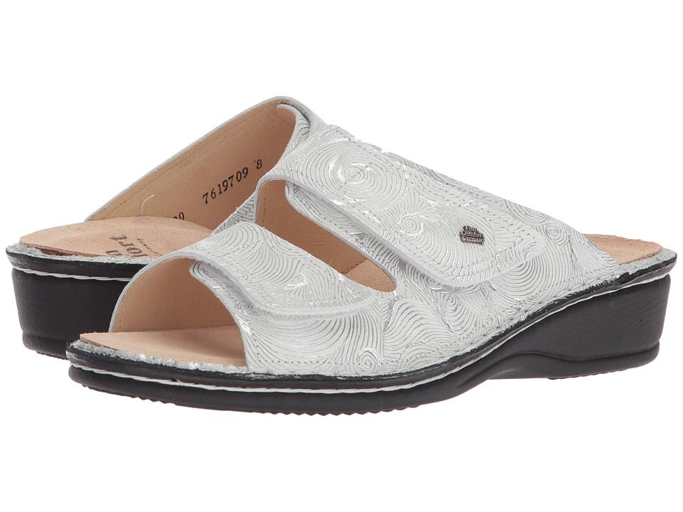 Finn Comfort - Jamaica (White/Silver) Women's Sandals
