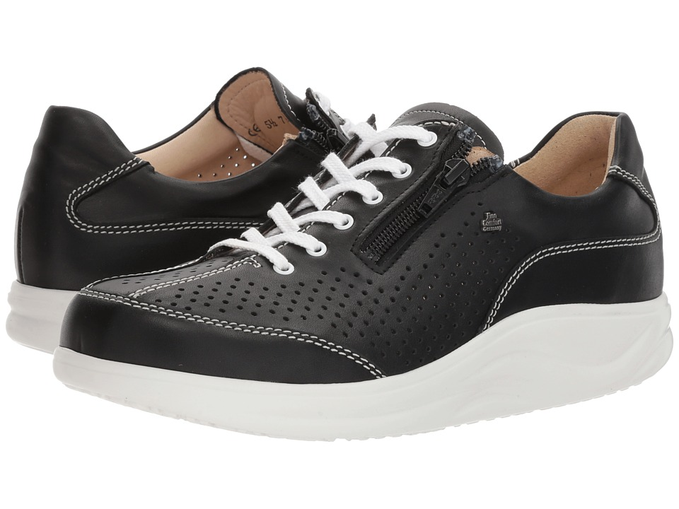 Finn Comfort - Oze (Black) Womens Lace up casual Shoes