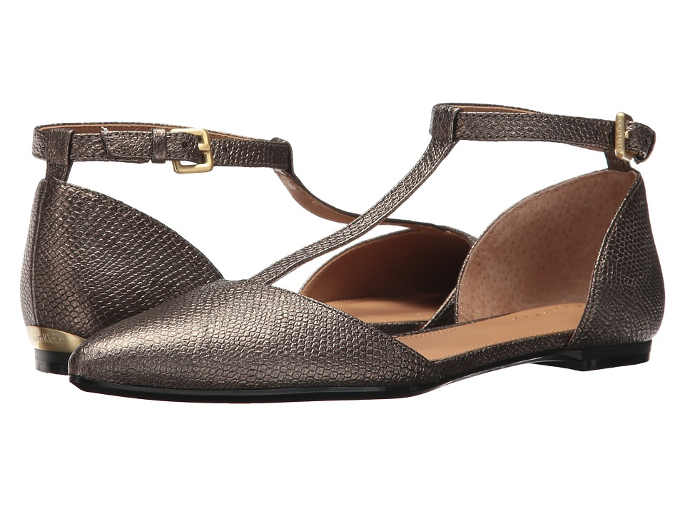 1920s Style Shoes Calvin Klein - Ghita Black Patent Womens Dress Flat Shoes $97.99 AT vintagedancer.com
