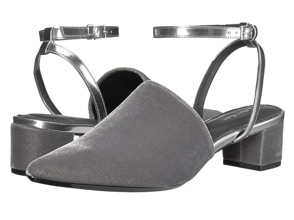 Calvin Klein Ginetta (Slate/Dark Silver Velvet/Metallic Box) High Heels