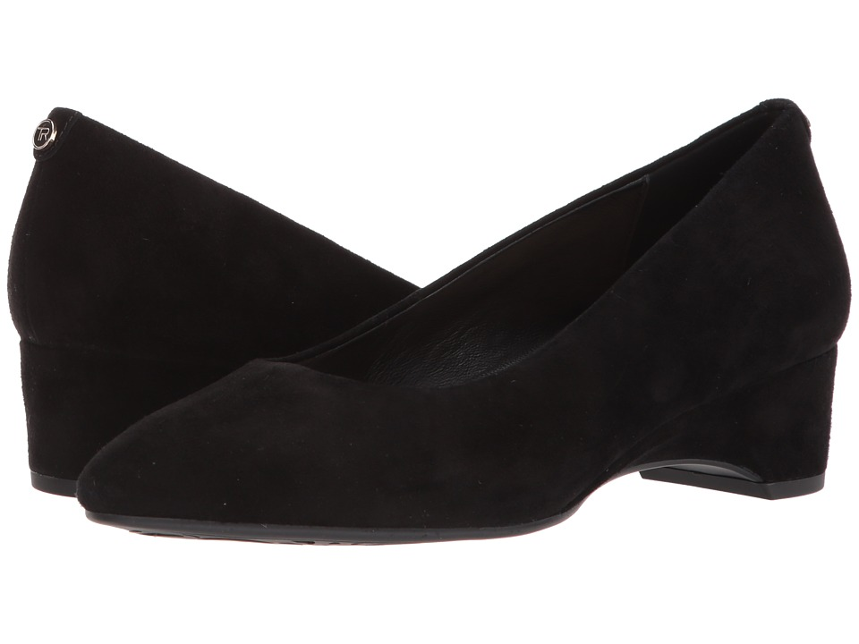 Taryn Rose - Babs (Black Silky Suede) Womens Shoes