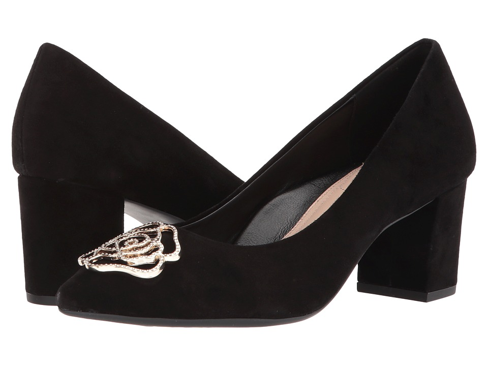 Taryn Rose - Maci (Black Silky Suede) Womens Shoes