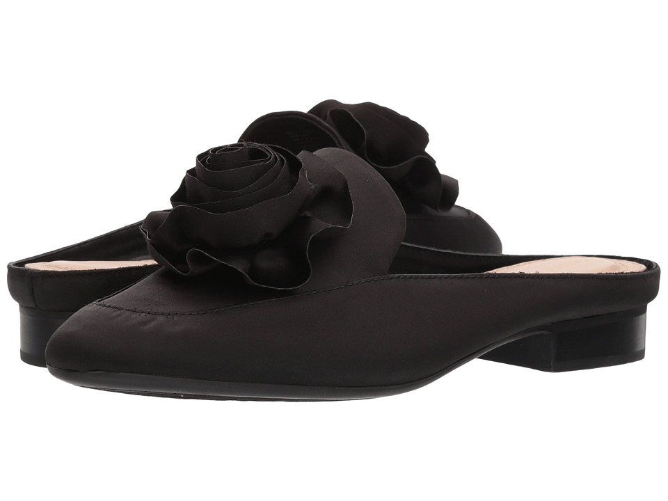 Taryn Rose - Blythe (Black Crystal Satin) Womens Shoes