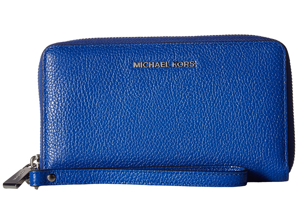MICHAEL Michael Kors - Mercer Large Flat Multifunction Phone Case (Electric Blue) Cell Phone Case