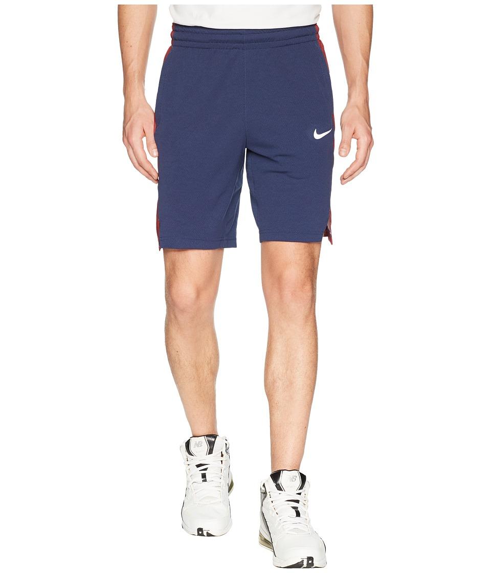 Nike Elite Stripe Basketball Short (Midnight Navy/Midnight Navy/White) Men