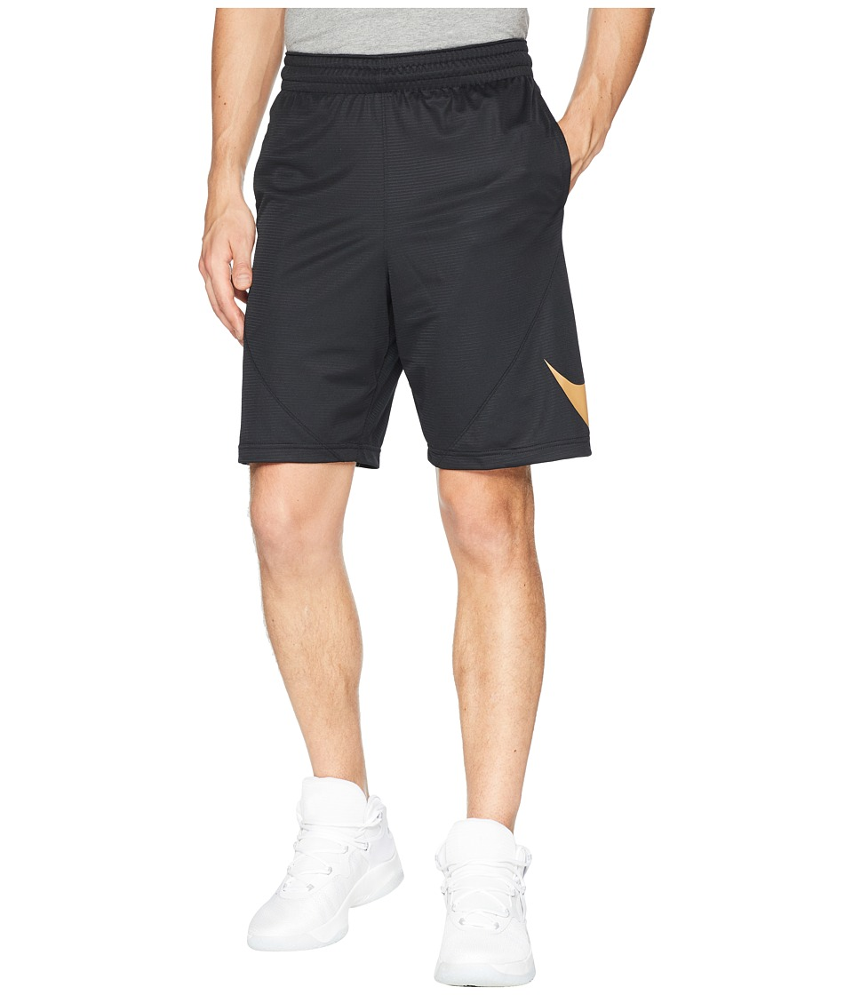 Nike Dry 9 Basketball Short (Black/Black/Elemental Gold) Men