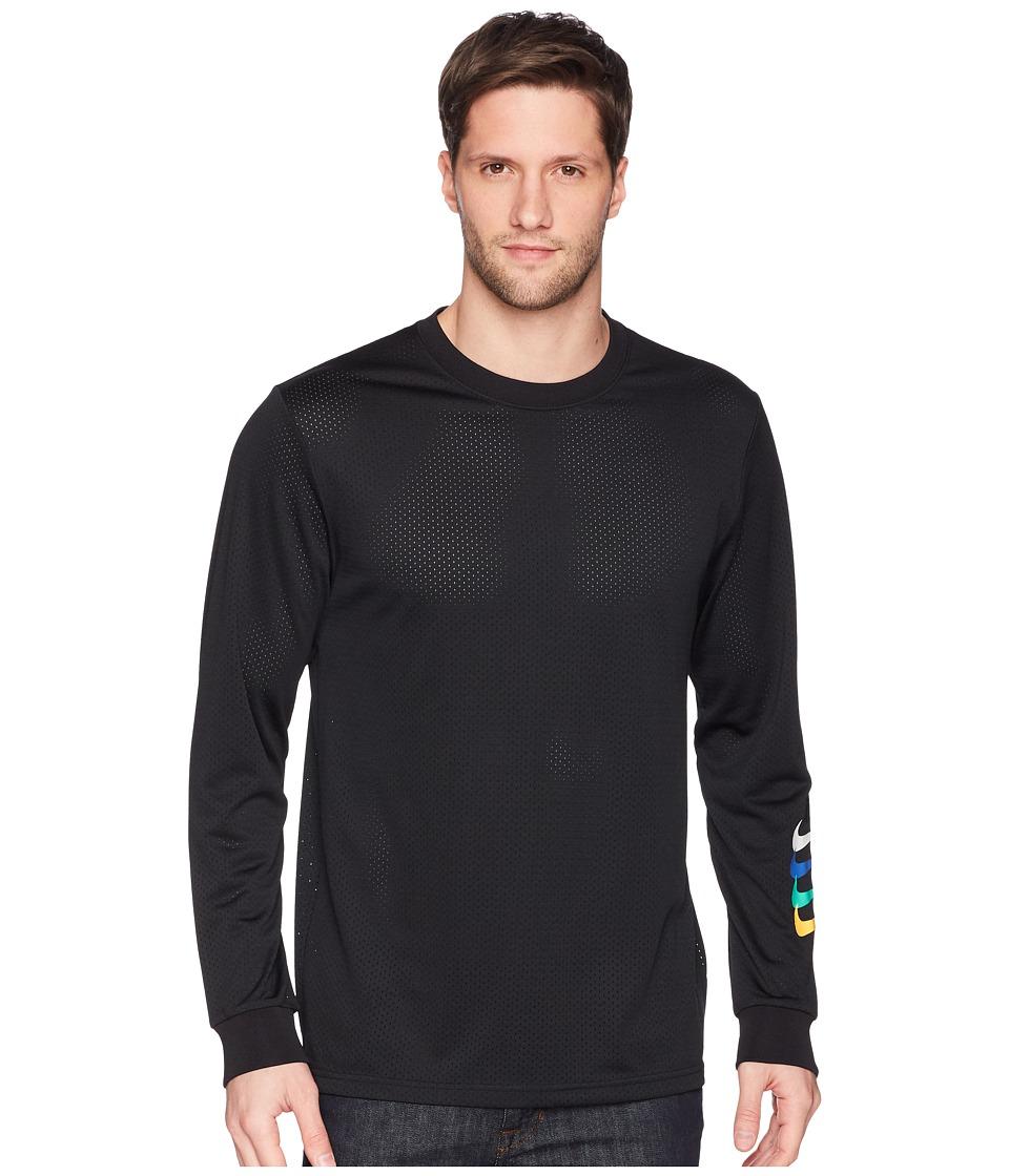 Nike SB - SB Dry Top GFX Long Sleeve (Black/Black) Mens Clothing