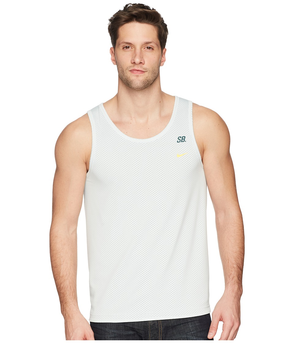 Nike SB - SB Dry Tank Top Mesh (Barely Grey/Deep Jungle/Laser Orange) Mens Sleeveless
