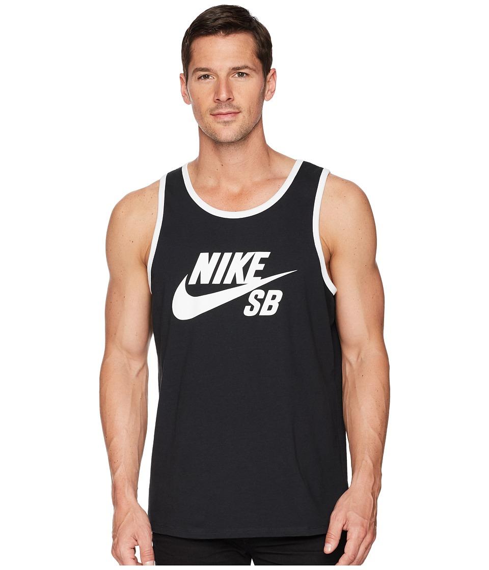 Nike SB - SB Tank Top Ringer (Black/White) Mens Sleeveless