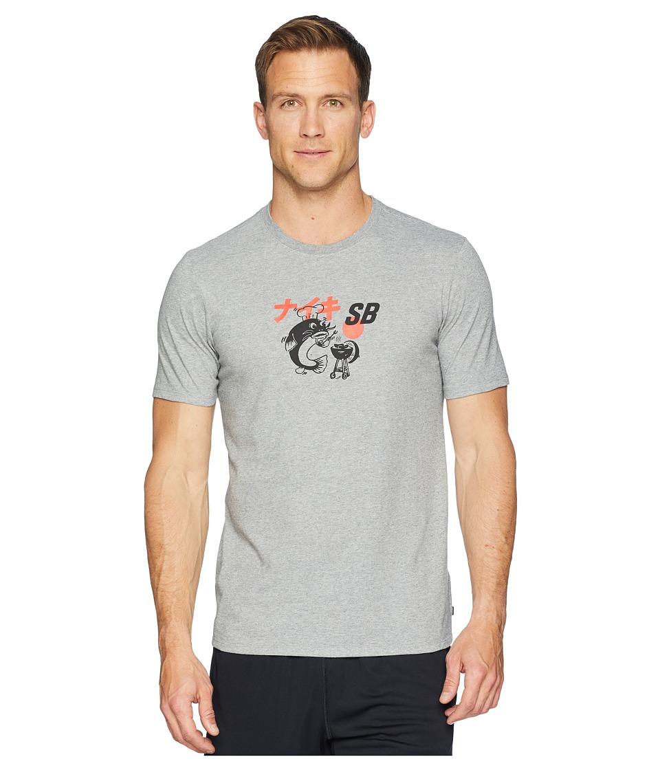 Nike SB - SB Dry Tee BBQ Fish (Dark Grey Heather/Black) Mens T Shirt