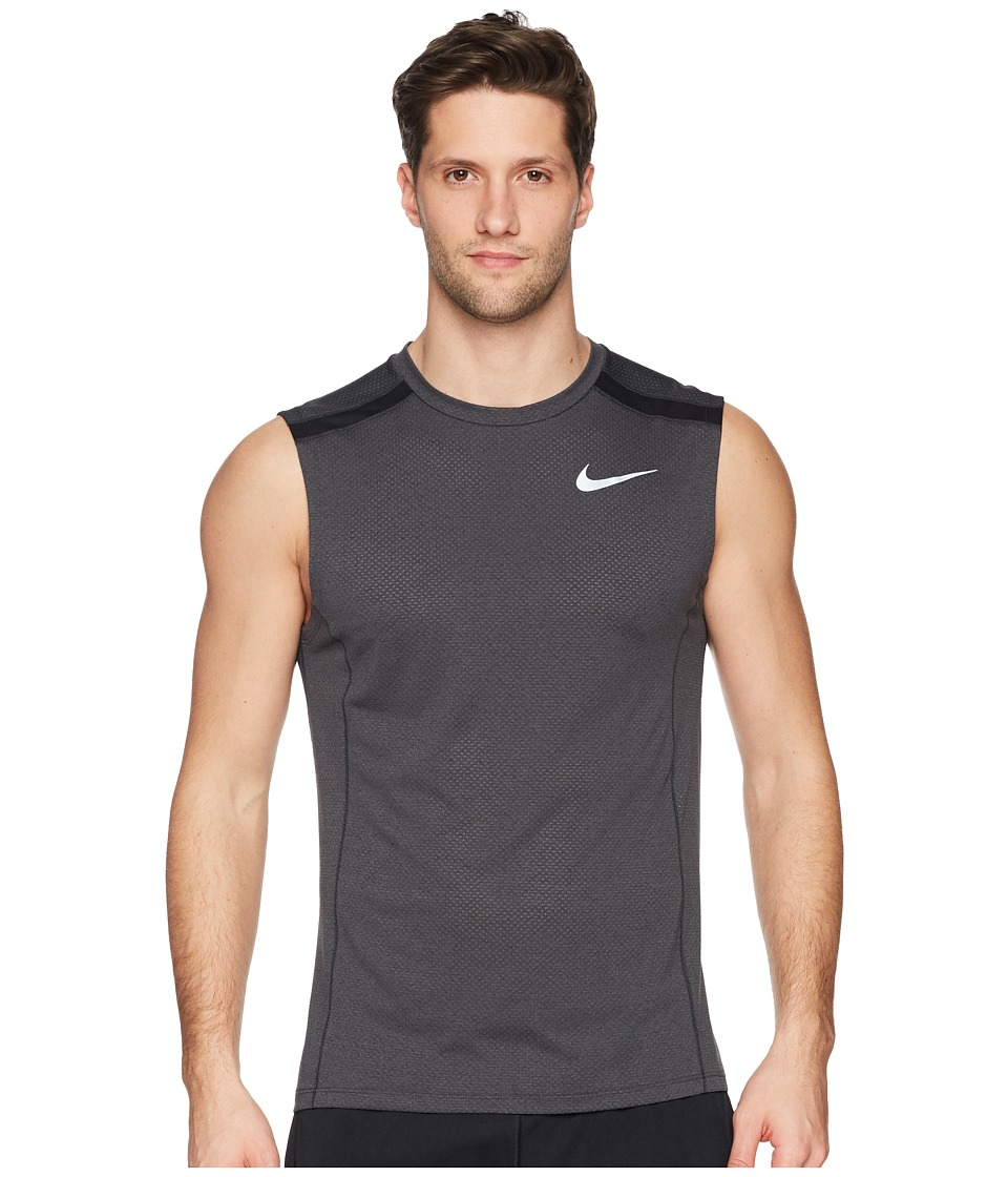 Nike - Breathe Cool Miler Top Sleeveless (Black/Heather/Black) Mens Sleeveless