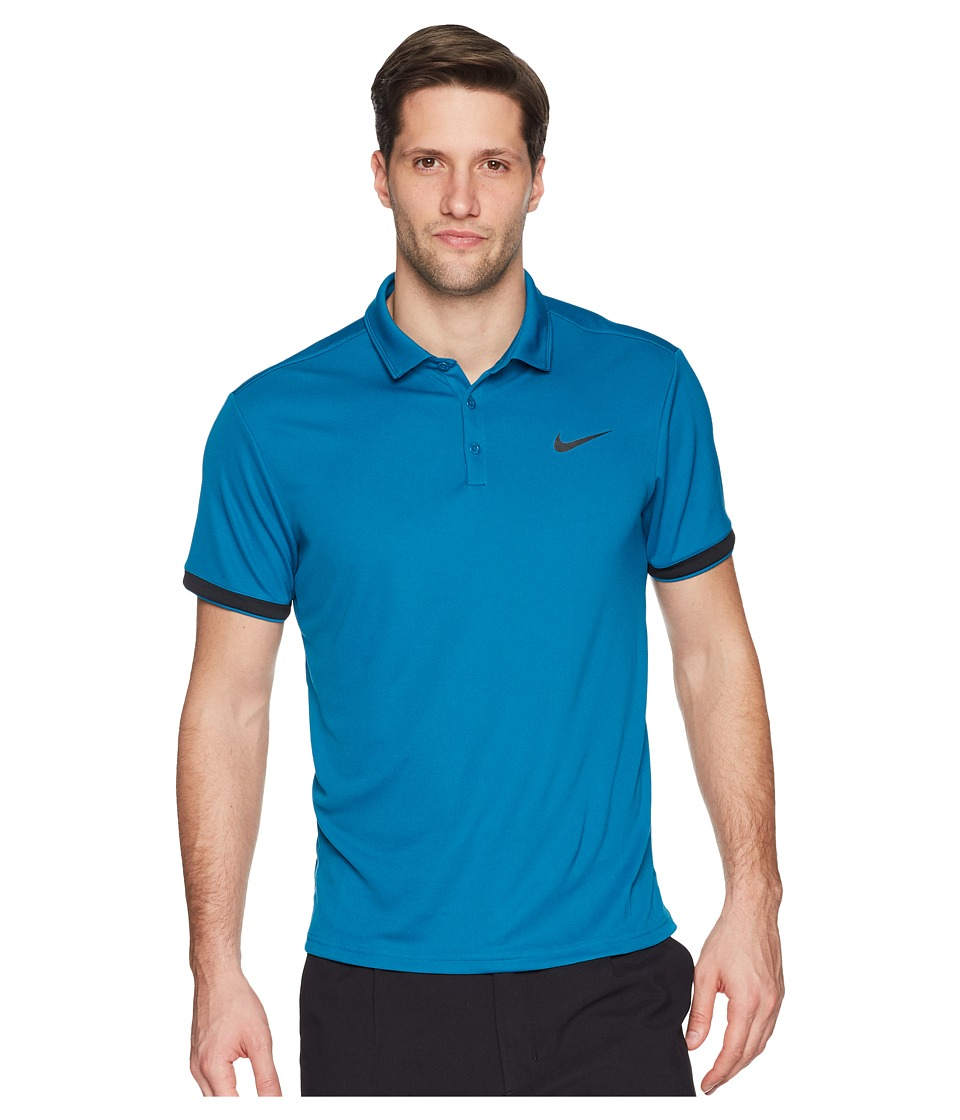 Nike Court Dry Tennis Polo (Green Abyss/Black/Black) Men
