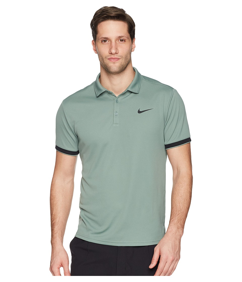 Nike Court Dry Tennis Polo (Clay Green/Black/Black) Men
