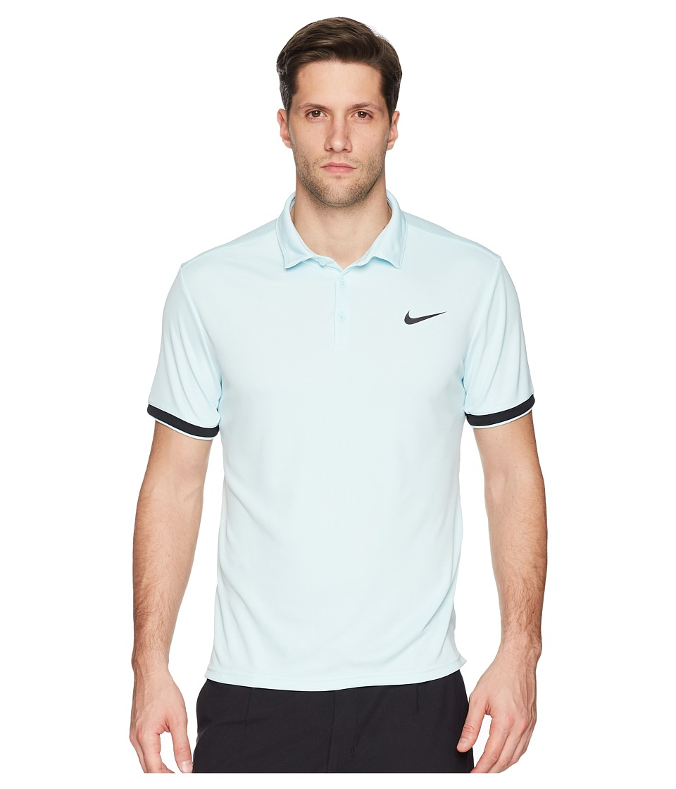 Nike Court Dry Tennis Polo (Glacier Blue/Black/Black) Men