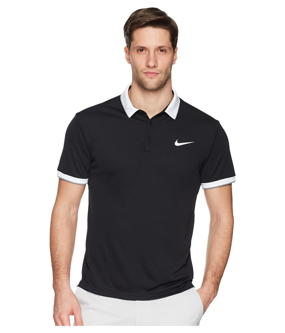 Nike Court Dry Tennis Polo (Black/White/Cool Grey/White 1) Men