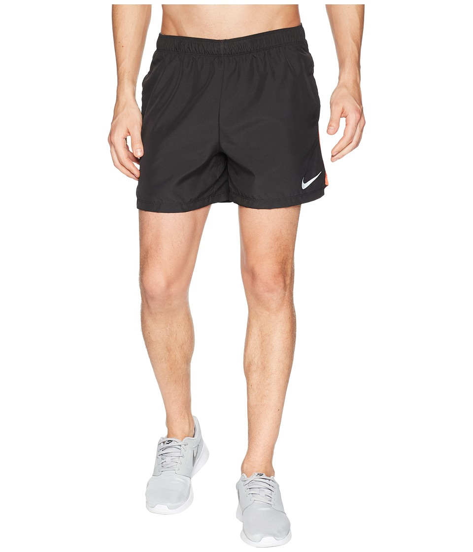 Nike Challenger 5 Running Short (Black/Black/Rush Coral) Men