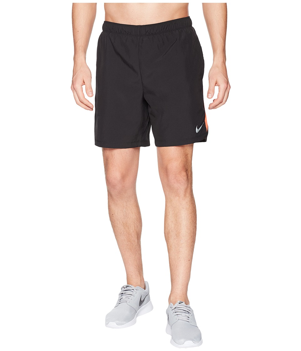 Nike Challenger 7 Running Short (Black/Black/Rush Coral) Men