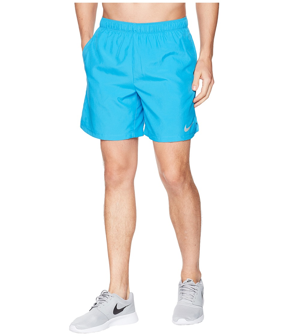 Nike Challenger 7 Running Short (Equator Blue/Equator Blue/Equator Blue) Men