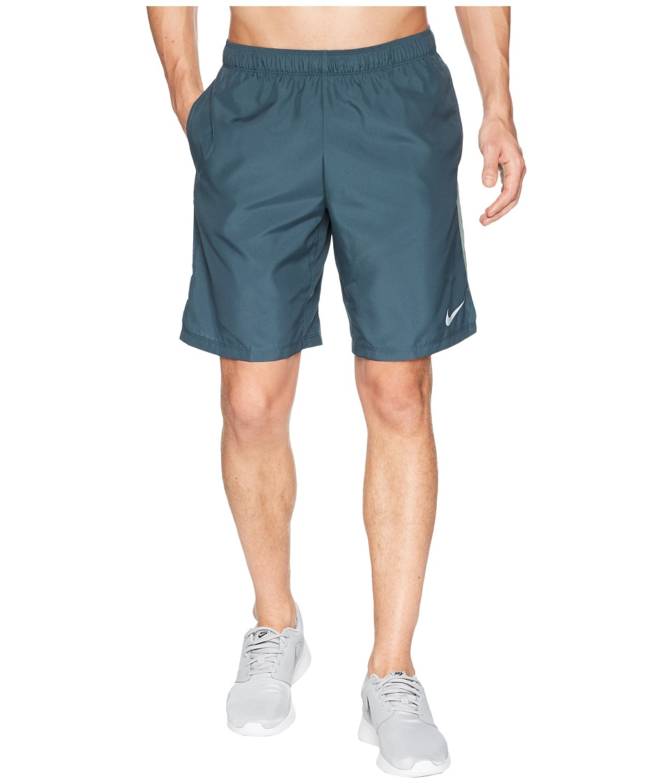Nike Challenger 9 Running Short (Deep Jungle/Clay Green) Men