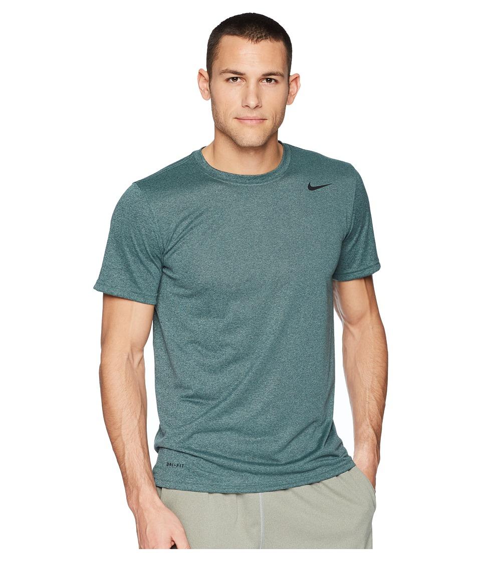 Nike Legend 2.0 Short Sleeve Tee (Deep Jungle/Clay Green/Heather/Black) Men