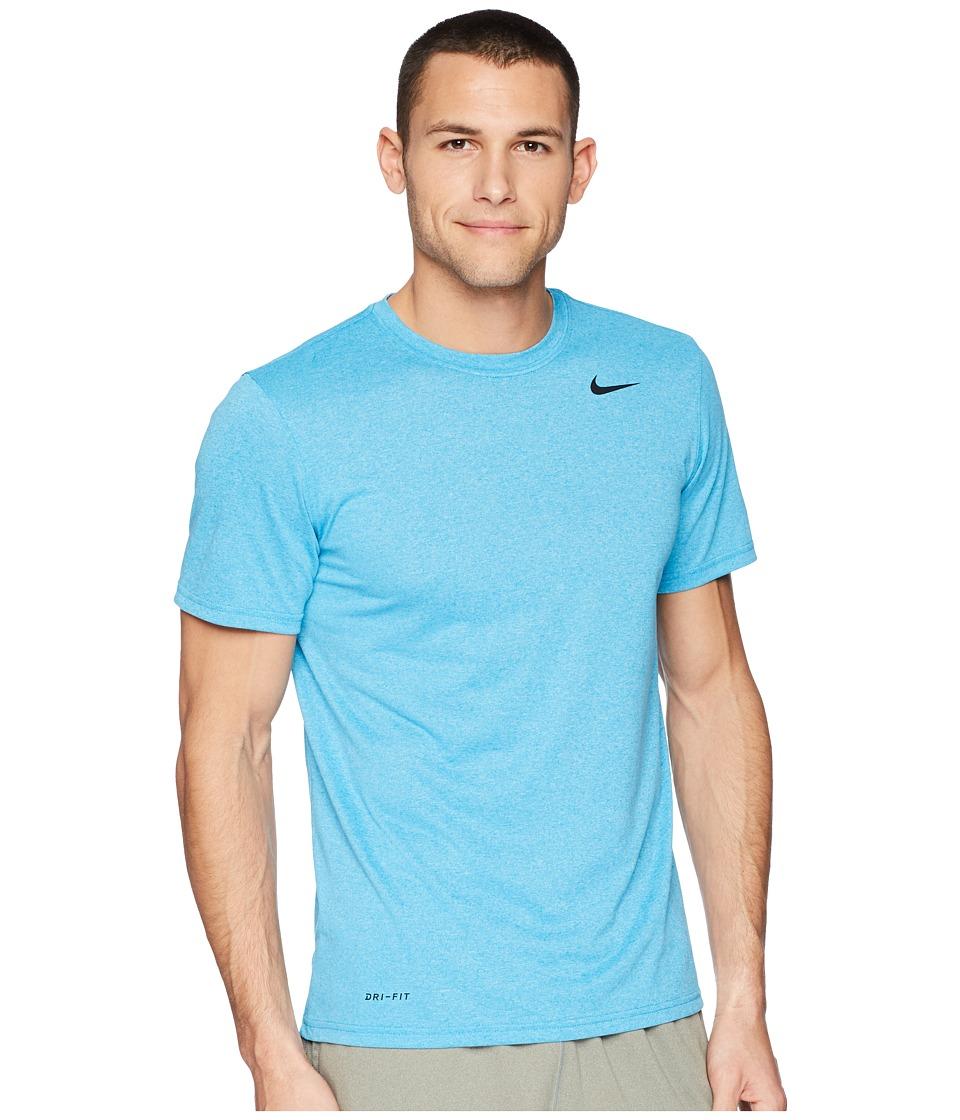 Nike Legend 2.0 Short Sleeve Tee (Equator Blue/Blue Gale/Heather/Black) Men