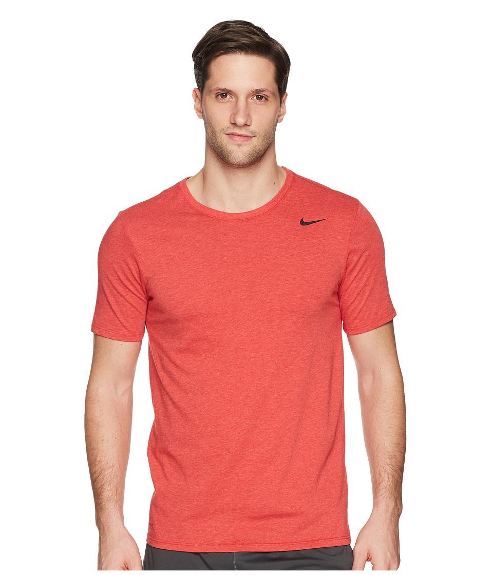 Nike Dri-FITtm Version 2.0 T-Shirt (Light University Red/Heather/Black) Men