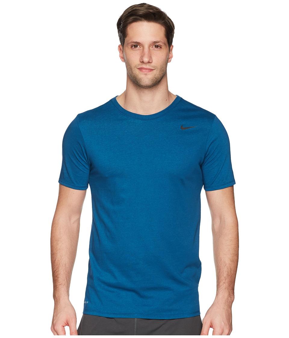 Nike Dri-FITtm Version 2.0 T-Shirt (Blue Force/Equator Blue/Heather/Black) Men