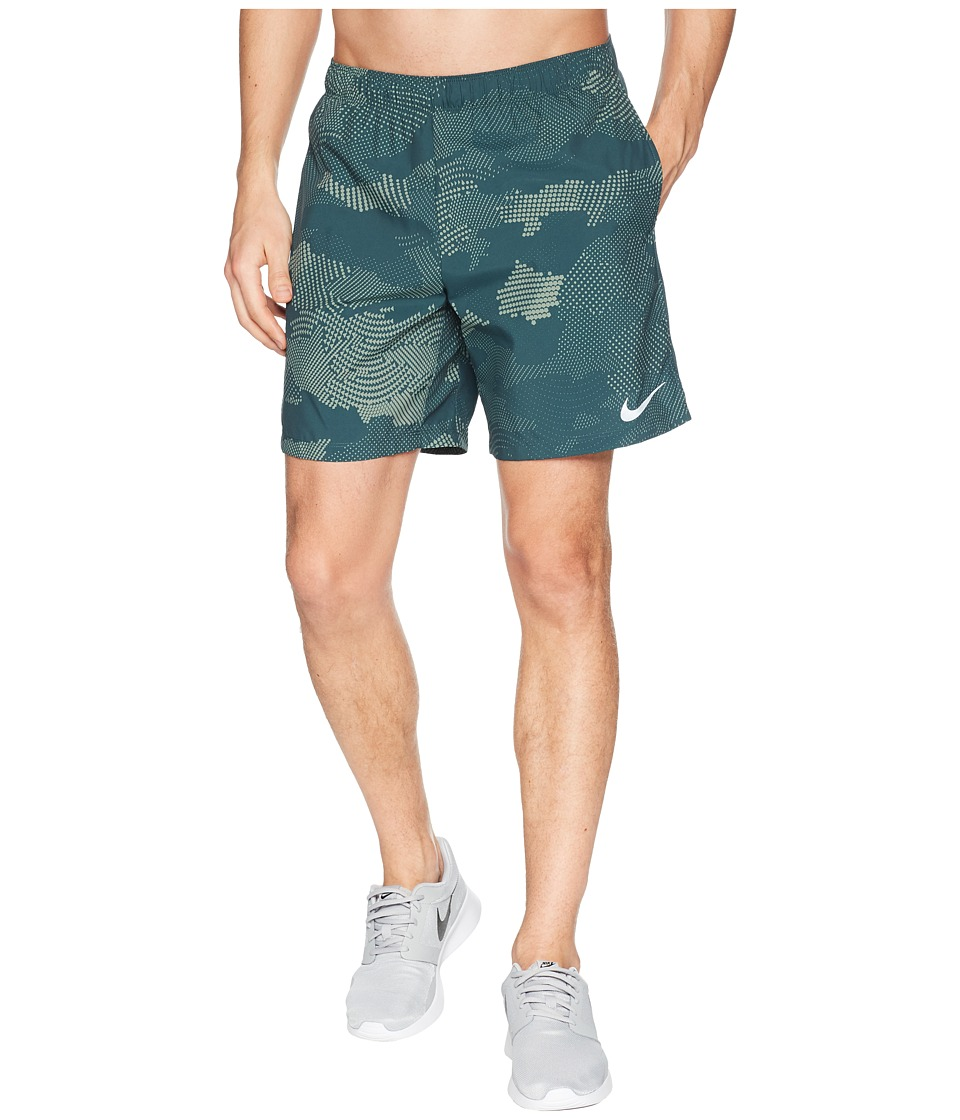 Nike Dry Challenger Shorts 7 Print (Deep Jungle/Deep Jungle) Men