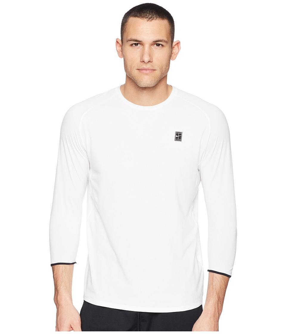 Nike Court Dry Challenger Top 3QT (White/Black/Black/Black) Men