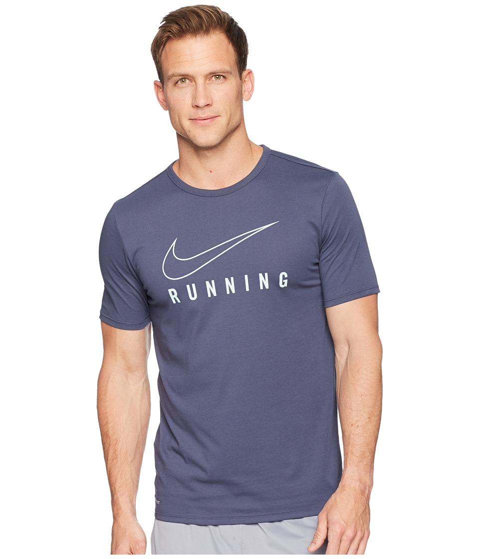 Nike Dry Tee Dri-FITtm STMT Brand Mark (Thunder Blue/Igloo) Men