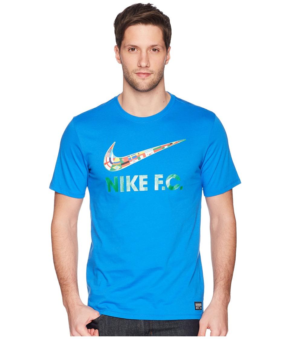 Nike FC Tee Swoosh Flag (Signal Blue/Lucky Green) Men