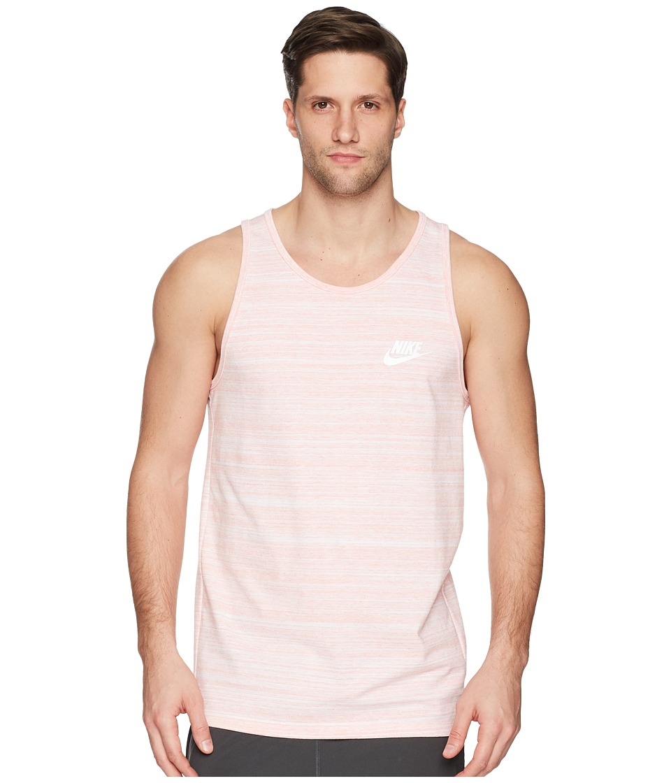 Nike Sportswear Advance 15 Tank (White/Rush Coral/Heather/White) Men