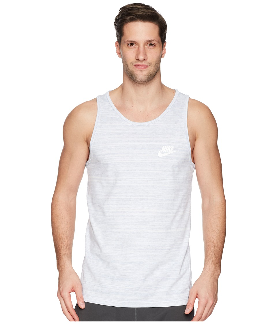 Nike Sportswear Advance 15 Tank (White/Purple Slate/Heather/White) Men
