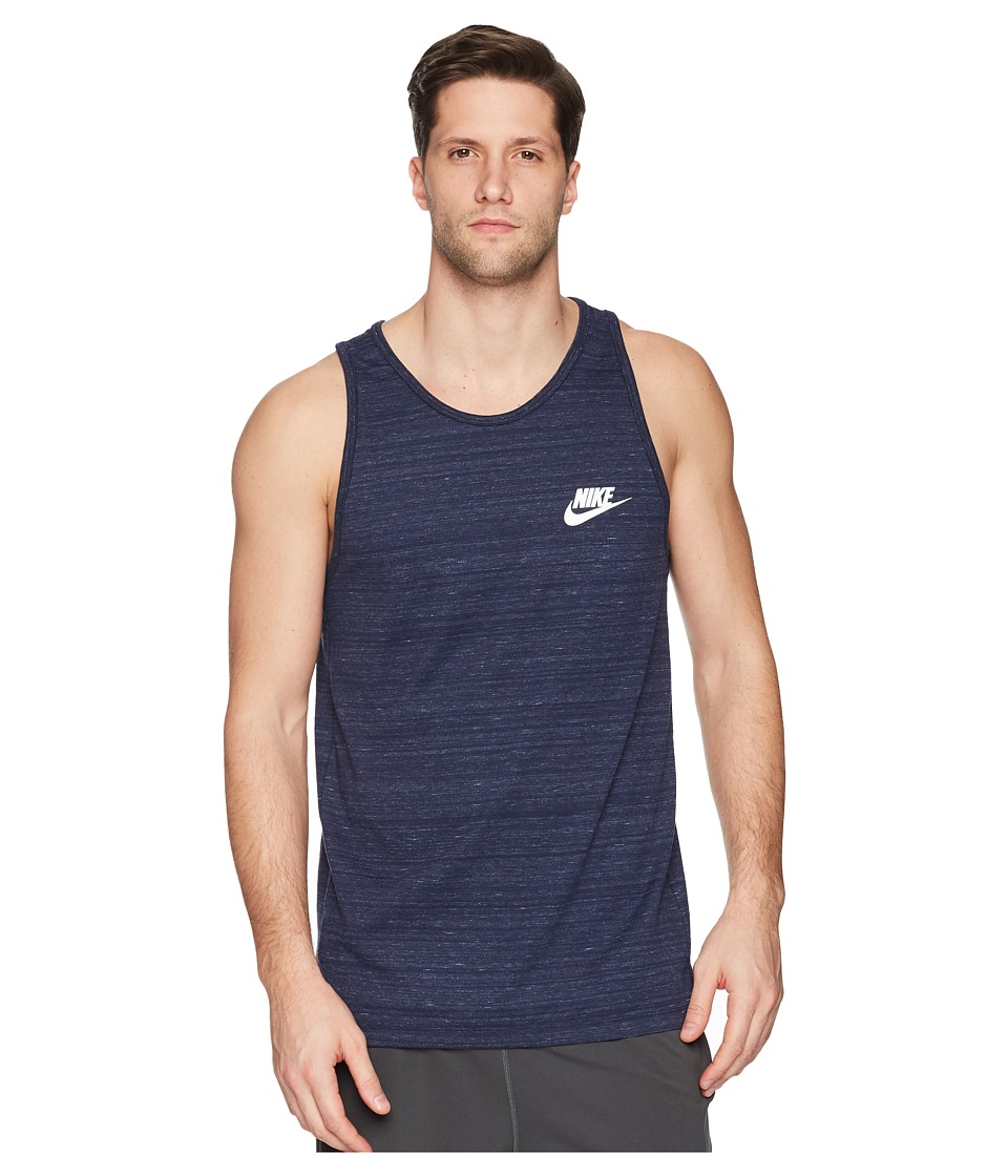 Nike Sportswear Advance 15 Tank (Obsidian/Heather/White) Men