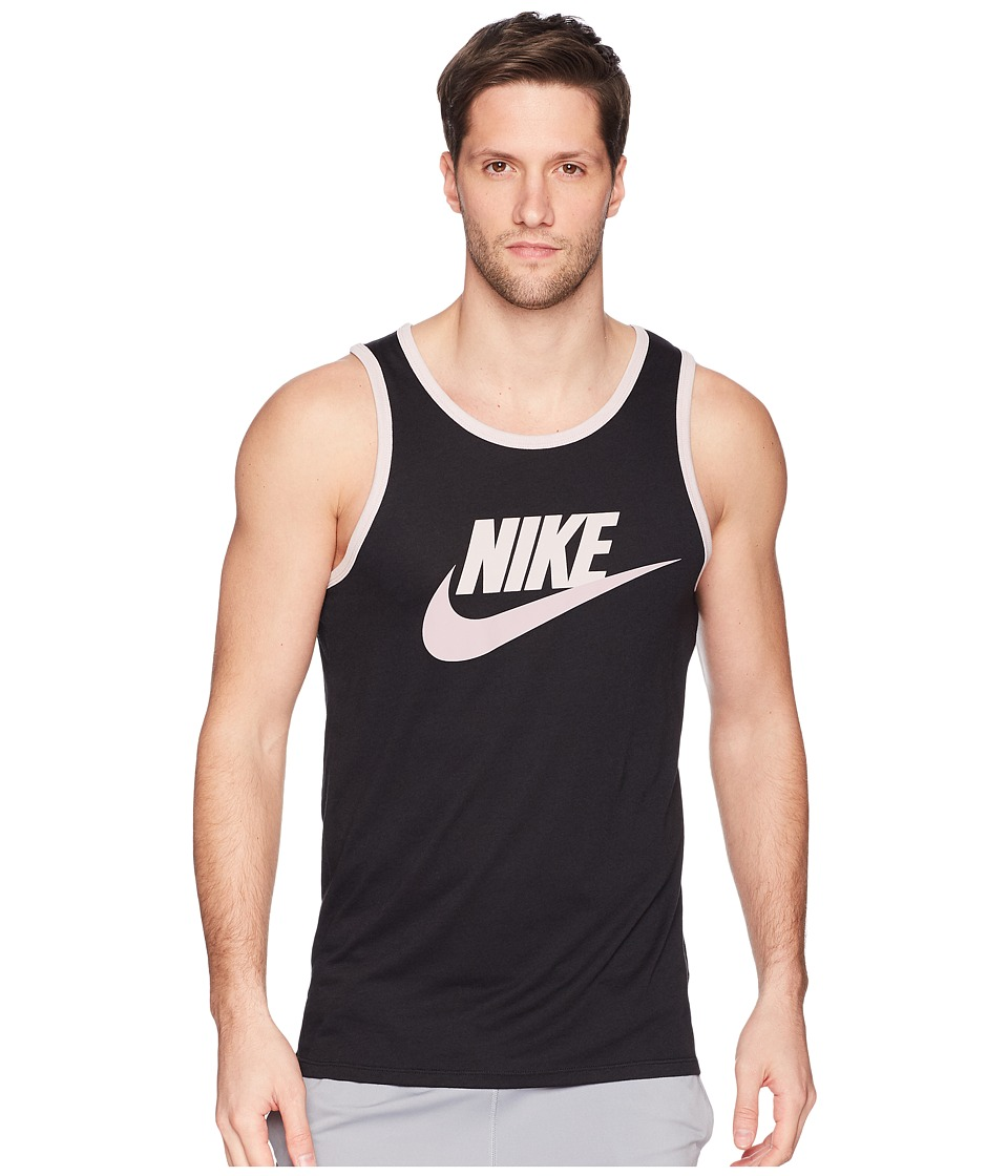Nike Ace Logo Tank Top (Black/Particle Rose/Elemental Rose) Men