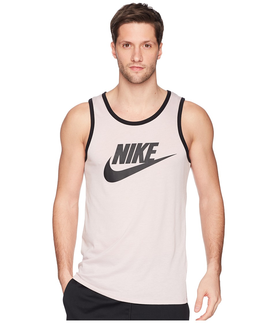 Nike Ace Logo Tank Top (Particle Rose/Black/Black) Men