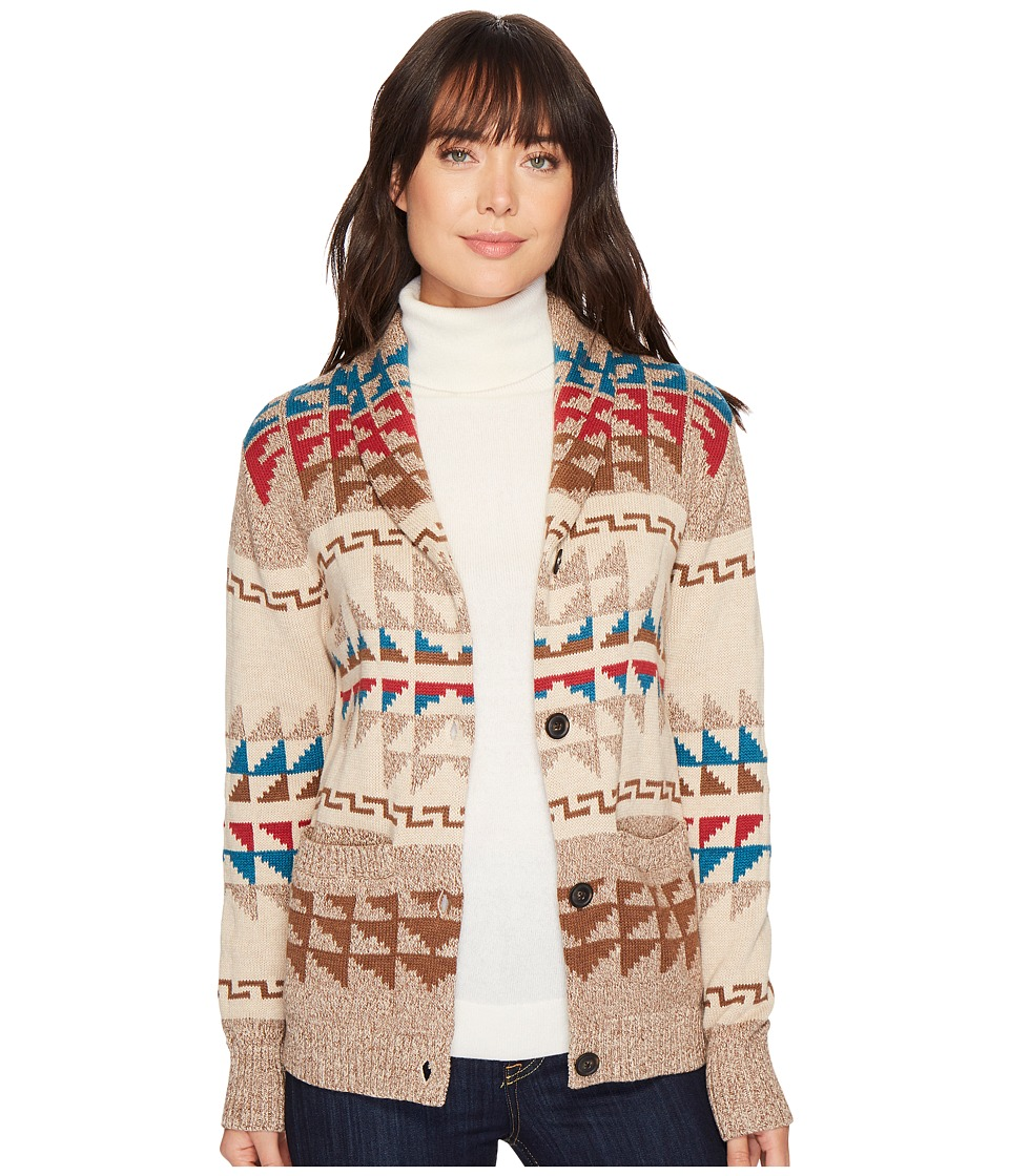 Pendleton Iconic Shawl Collar Cardigan (Brown Multi) Wome...