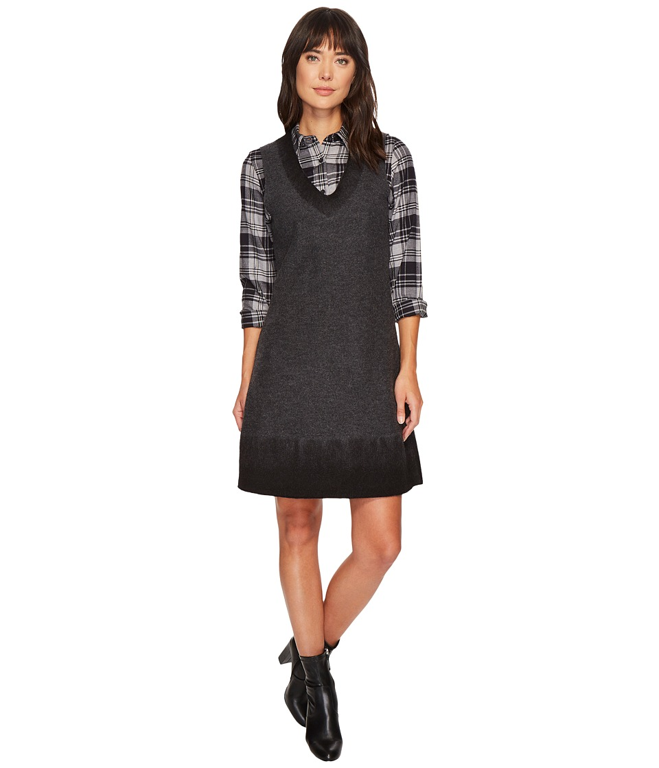 Pendleton Boiled Wool Pullover Jumper (Charcoal/Black Ombre) Women