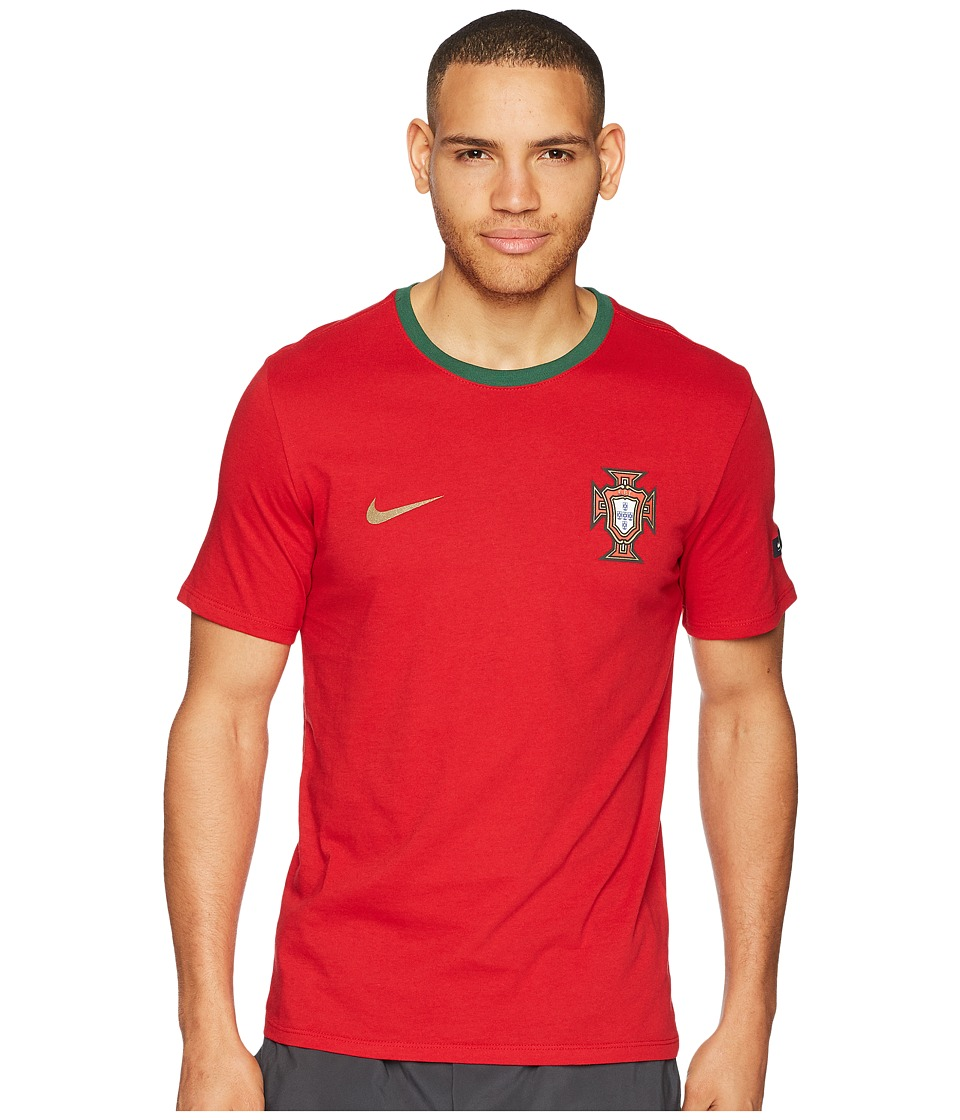 Nike FPF Tee Crest (Gym Red/Gorge Green) Men