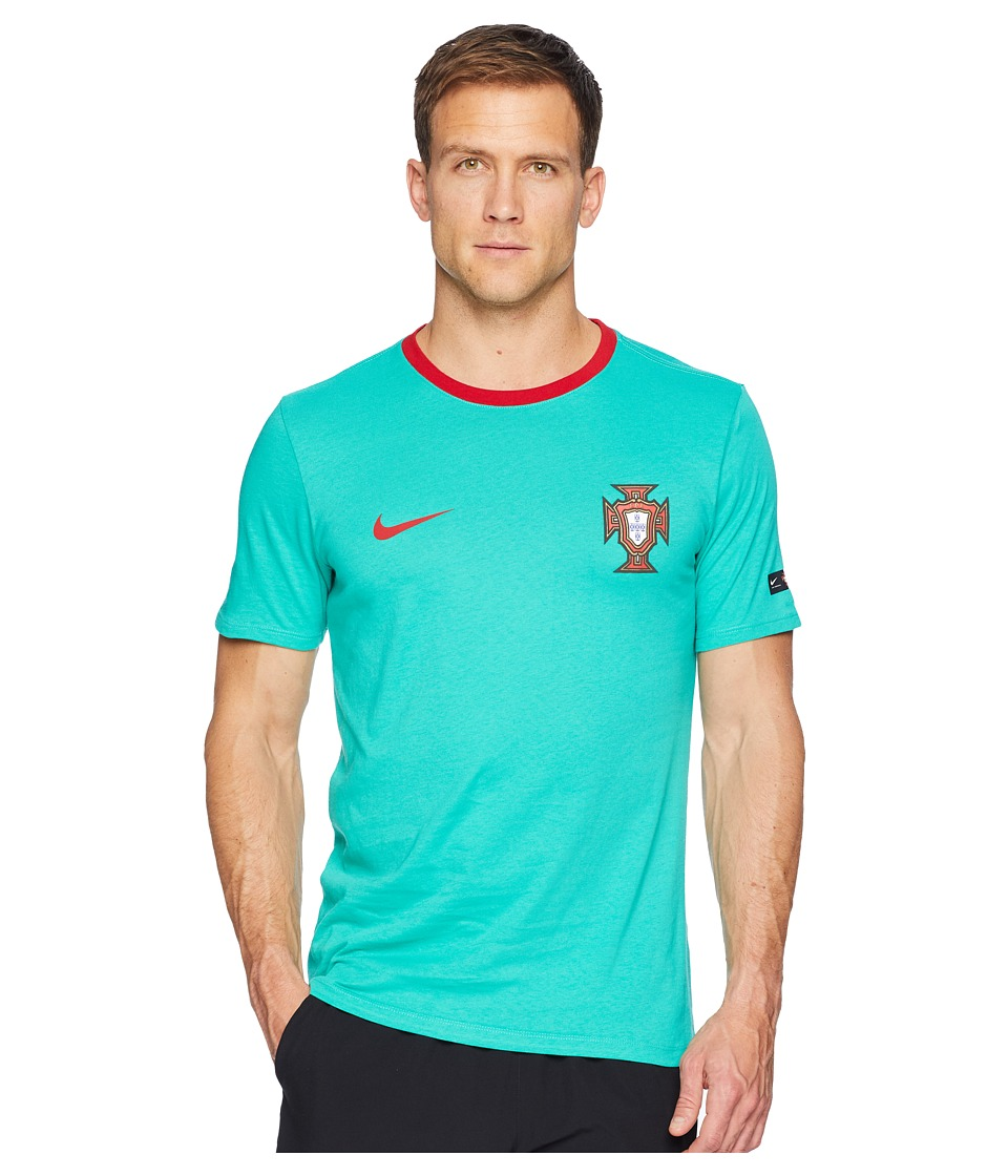 Nike FPF Tee Crest (Kinetic Green/Gym Red) Men