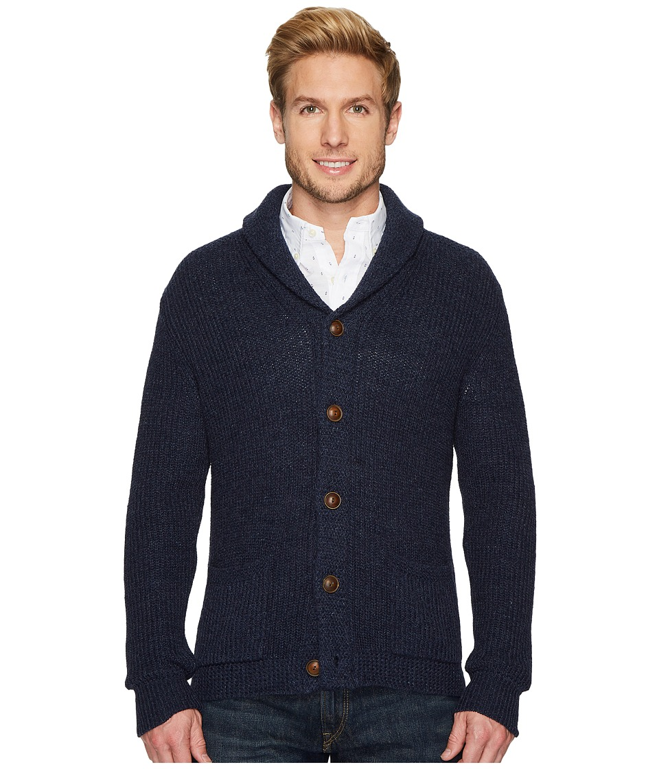 Ralph Lauren Shawl Sweater (Blue Marl) Men's Sweater