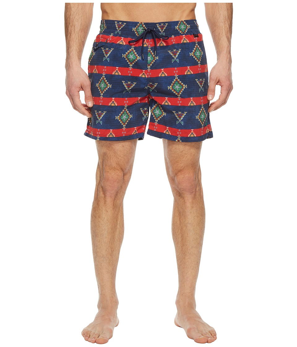 Ralph Lauren Explorer Shorts w/ Swim Bag (Blue Native Str...